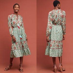 Anthropologie x Kopal Jaipur Peasant Dress